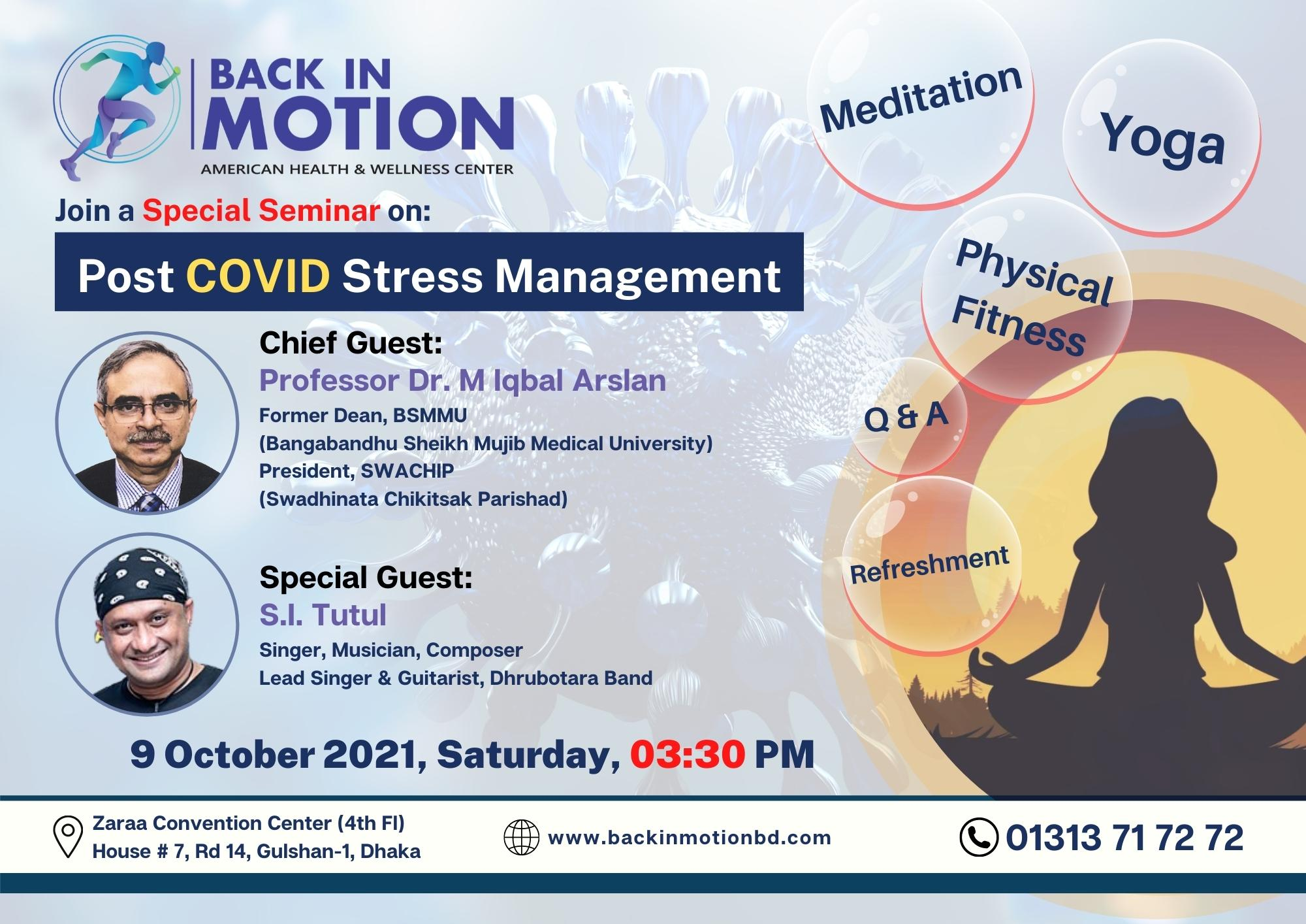 Post COVID Stress Management Poster